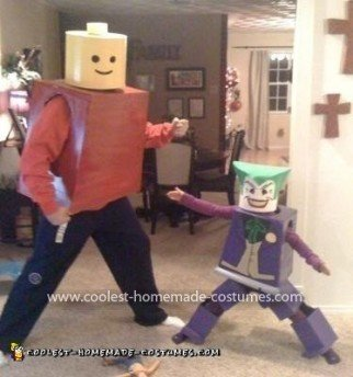 Coolest Lego Joker Costume (and Lego Dad!)
