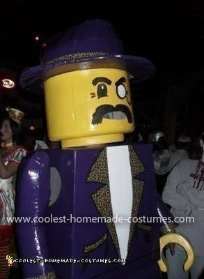 Homemade Lego Man Halloween Costume
