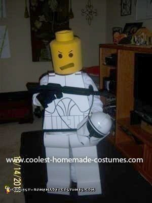Homemade Lego Storm Trooper Costume