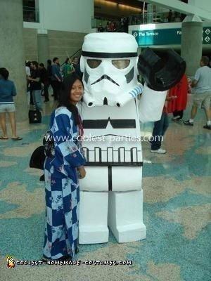 Homemade Lego Stormtrooper Costume