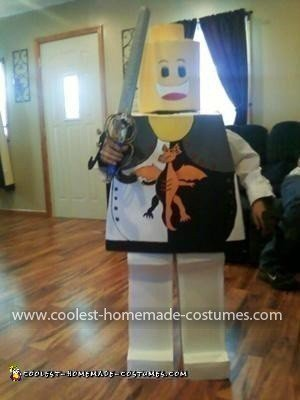 Homemade Lego Warrior Costume