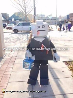 Homemade Lego Zombie Costume