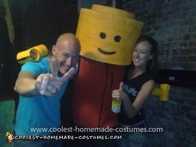 Homemade Legoman Costume