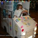 Coolest Lemon Laura's Ice Cream Truck with Whiteboard - with lights on