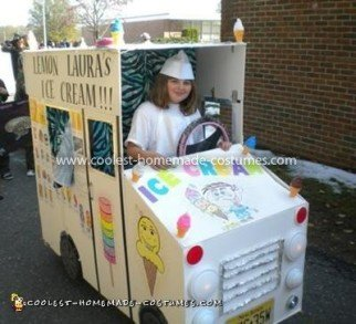 Coolest Lemon Laura's Ice Cream Truck with Whiteboard - front and serving window side