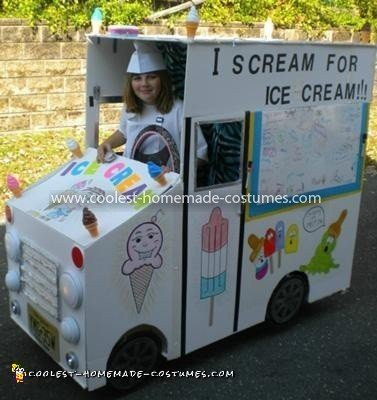 Coolest Lemon Laura's Ice Cream Truck with Whiteboard - driver's side