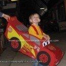 Homemade Lightning McQueen Costume