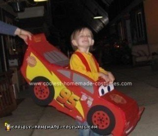 Homemade Lightning McQueen Costume