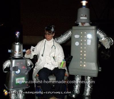 Homemade Light-Up Robot Costume