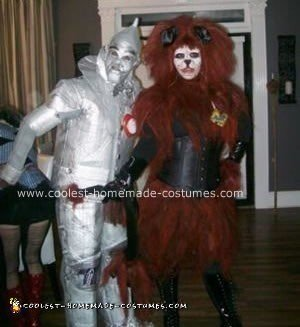 Homemade Lion and Tin Man Costumes
