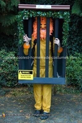 Homemade Lion in Cage Costume