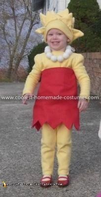Homemade Lisa and Maggie Simpson Costumes