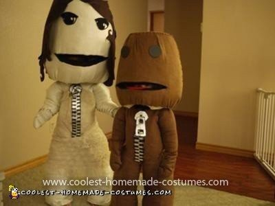 Homemade Little Big Planet Sack People Couple Costume