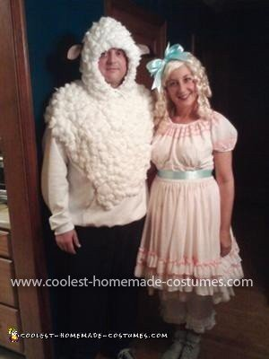 Homemade Little Bo Peep and her Sheep Costume