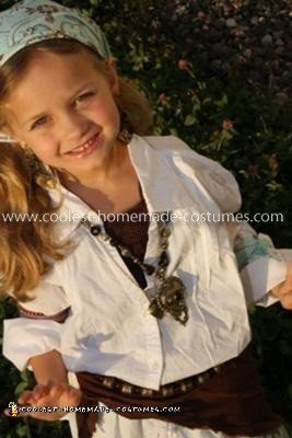 Homemade Little Gypsy Costume
