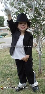 Homemade Little Michael Jackson Costume