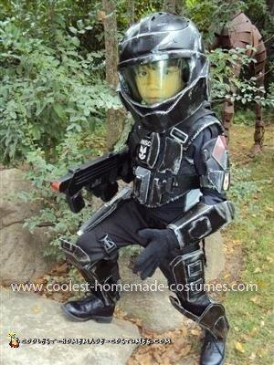 Homemade Little ODST Halo Costume