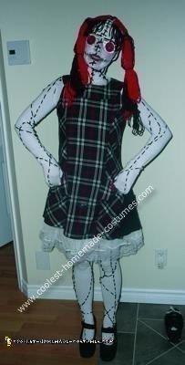 Creepy living dead doll costume
