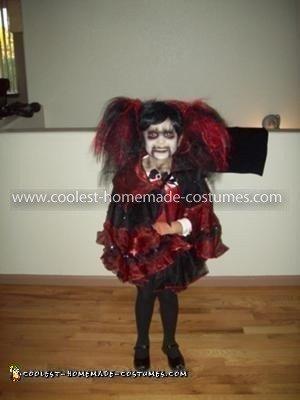 Homemade Living Dead Doll Costume