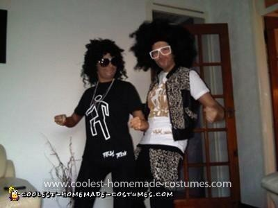 Homemade LMFAO Couple Costumes