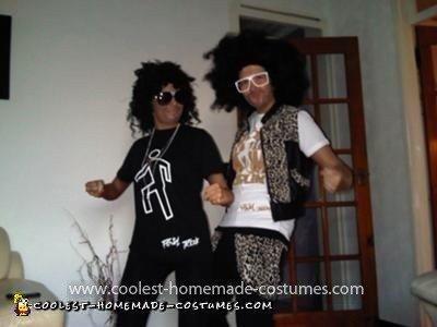 Homemade LMFAO Couple Costumes