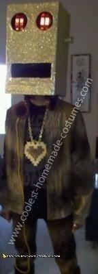 Coolest LMFAO Golden Robot Costume