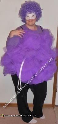 Homemade Showerpuff Girl Loofah Costume