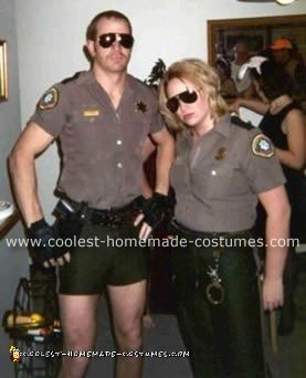 Homemade Lt. Dangle and Deputy Johnson Costumes