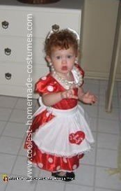 Homemade Little Lucille Ball Costume