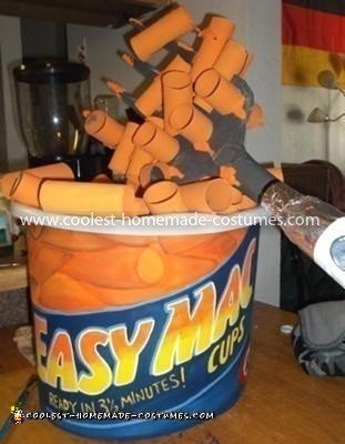 Coolest Macaroni and Cheese Costume - The finished Macaroni Cup & Fork