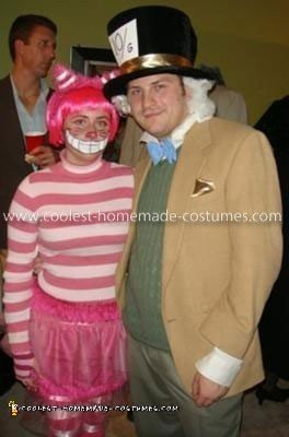 Homemade Mad Hatter and Cheshire Cat Costume