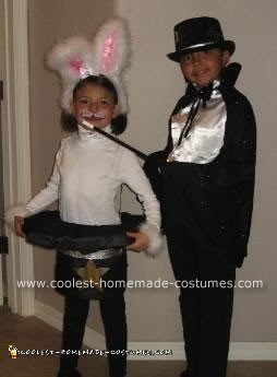 Homemade Magican And Rabbit In The Hat Costume