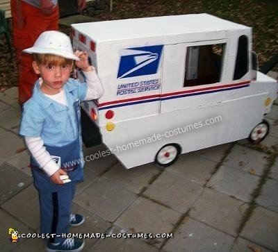 Mail Man and his Truck DIY Halloween Costume