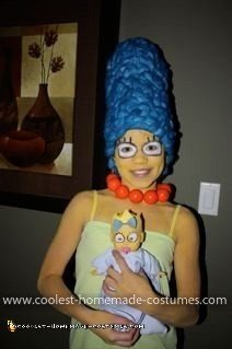 Homemade Marge Simpson Costume