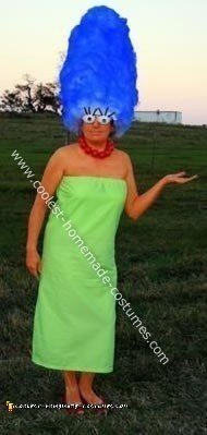 how to make a marge simpson costume