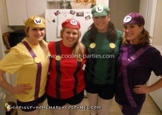 Homemade Mario Bros Group Costume