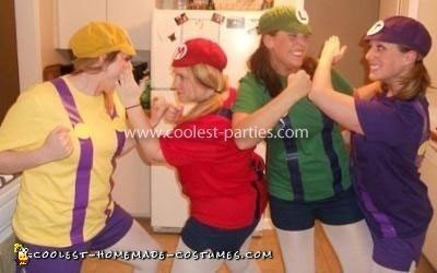 Mario Bros Group Costume