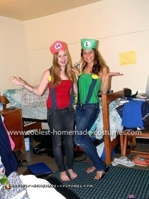 Homemade Mario Brothers Couple Costume