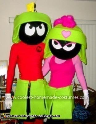 Homemade Marvin (and Marsha) The Martian Couple Costume