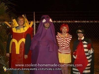 Homemade McDonald's Characters Group Costume