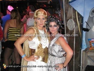 Homemade Medusa and Athena Costumes