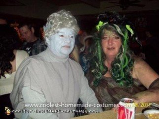 Homemade Medusa and Statue Couples Costume