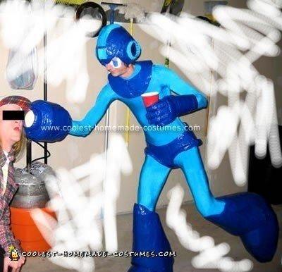 Homemade Mega Man Halloween Costume