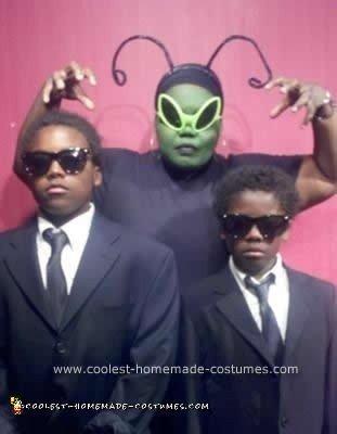Homemade Men In Black Family Costume