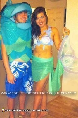 "Homemade Mermaid and ""Merman"" Couple Costume"