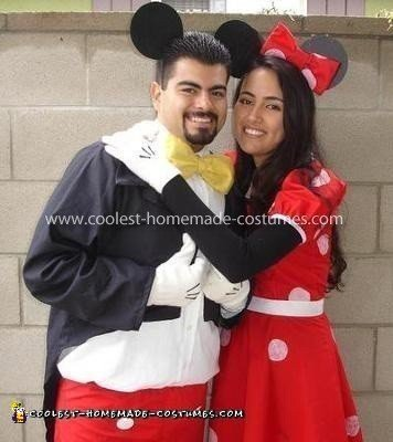 Homemade Mickey and Minnie Mouse Couple Costume