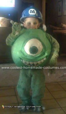 Homemade Mike Wazowski from Monsters, Inc. Costume