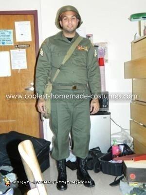 Homemade Military Costume