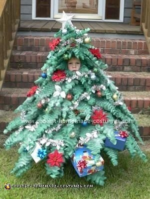 Homemade Mini Christmas Tree Costume