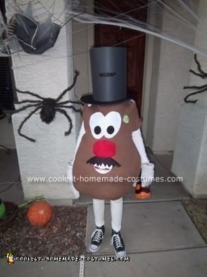 Homemade Mister Potato Head Costume